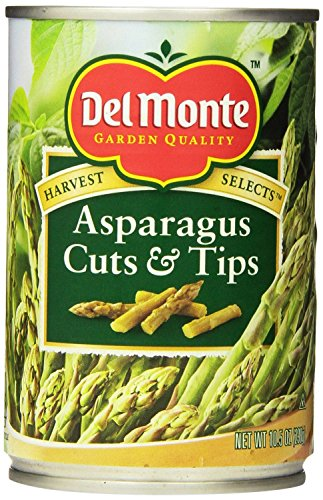 Cut Asparagus (Del Monte, Havest Selects, Asparagus Cuts & Tips, 10.5oz Can (Pack of)