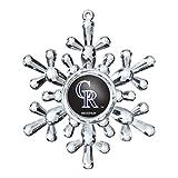 MLB Colorado Rockies Traditional Snowflake Ornament