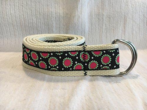 (Adjustable D Ring Belt, Polka Dot Belt, Ribbon Belt, Big Dot Ribbon, Preppy Belt)