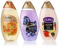 Duru 3 Piece Shower Gel Variety Pack, Blueberry Parfait/Mango Ice Cream/Lily