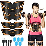 ABS Stimulator - Fitgym Newest Portable Muscle Trainer EMS Abdominal Toning Belt Muscle