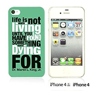 OnlineBestDigital - Typography Pattern Hard Back Case for Apple iPhone 4S / Apple iPhone 4 - Life Is
