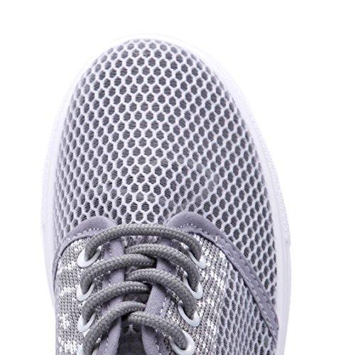 b6f9e20a180079 ... Schuhtempel24 Damen Schuhe Low Sneaker Flach Cut Out Grau ...