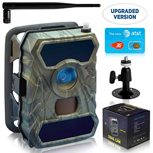 CreativeXP 3G Cellular Trail Cameras | AT&T WiFi Full HD Wild Game Camera with Night Vision for Deer Hunting, Security | Wireless Waterproof and Motion Activated | Tree Mount Included (1-Pack)