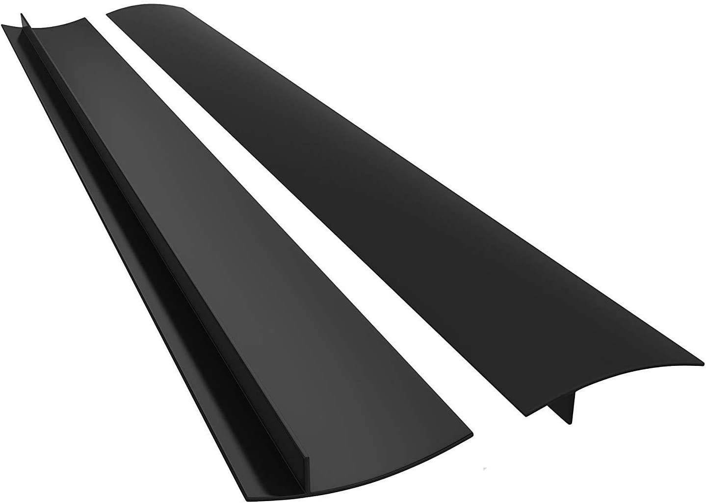 "MingTa Silicone 25"" Kitchen Range Gap Cover Filler Easy Clean Heat Resistant Wide & Long Gap Filler, Seals Spills Between Counter, Stove Top, Oven, Washer & Dryer (25 Inches, Black)"