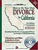 How to Do Your Own Divorce in California, Ed Sherman, 0944508669