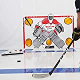 """Snipers Edge PassMaster – Master The One-Time and Become A Better Hockey Passer With Quicker & Softer Hands – Heavy Duty Design Measured at 26"""" Inches Per Side - Made In USA"""