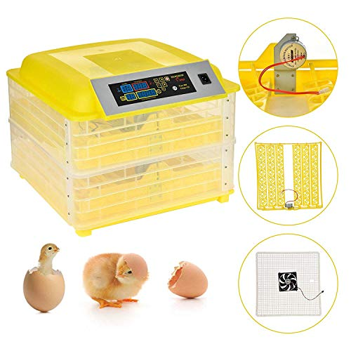 SUNCOO Digital Egg Incubator Hatcher with Automatic Egg Turning Temperature and Humidity Control for Chicken, Poultry Hatching for Chickens Ducks Goose Birds Turkey W/Three Output Channels 96 Eggs