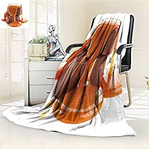 """Luxury Double-sides Reversible Fleece Blanket caramel sauce pouring on chocolate candies isolated on white background Couch Blanket,Travelling and Camping Blanket(60""""x 50"""")"""