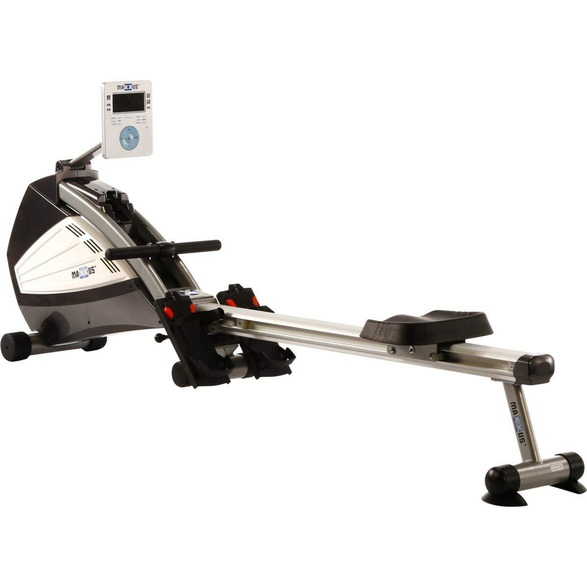 Maxxus Rudergerät 8.1 - Rower In Studioqualität Als Trainingsgerät Für Zuhause - Leiser Luft- und Magnetantrieb, Klappbar, 150Kg Maximales Benutzergewicht - Trainingscomputer mit Wettkampfsimulation