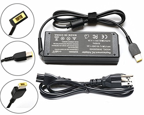 - 90W USB AC Adapter Charger for Lenovo Thinkpad X1 Carbon T440 E431 344428U N3N25UK 34442HU ;Lenovo IdeaPad Z510 6277-9QU PA-1900-081 Power Supply Cord