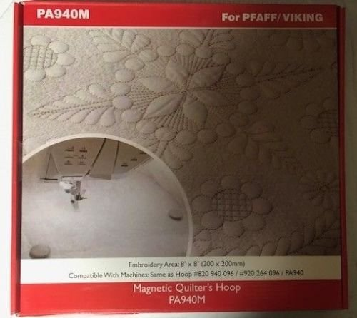 Metal//Magnetic Hoop for PFAFF Creative Embroidery Machine 200x200mm 8x8 Quilters Hoop
