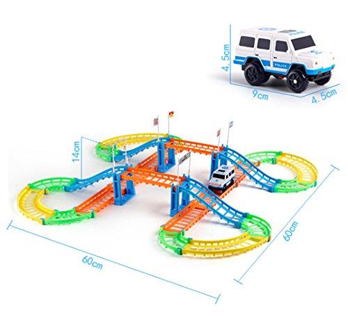 Zhenyu新しいデザインカラフルなElectric Railおもちゃ車子供のおもちゃmulti-track車トラック車ギフトの商品画像