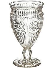 Weddingstar Vintage Style Pressed Glass Goblet & Flute