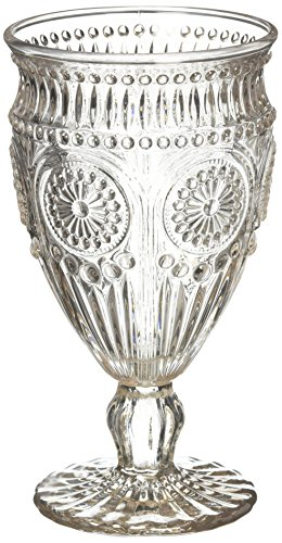 Weddingstar Vintage Inspired Pressed Glass Goblet, Smokey Grey