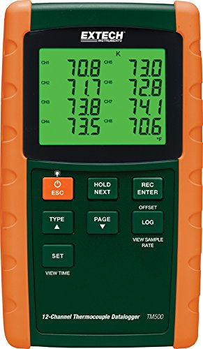 Extech TM500 Datalogging 12 Channel Thermometer