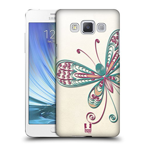 Head Case Designs Butterfly Quilling Protective Snap-on Hard Back Case Cover for Samsung Galaxy A5 Duos 3G A500H