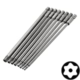 DAOKI 8pcs 150mm Length Magnetic Torx Security Electric Screwdriver Bits Set