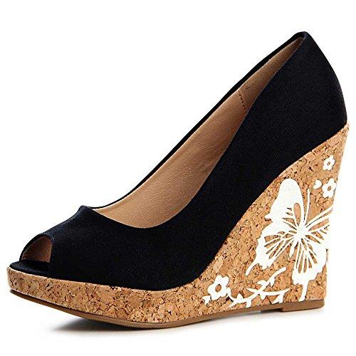 topschuhe24 Zapatos de Vestir de Otros Para Mujer, Color Negro, Talla 36