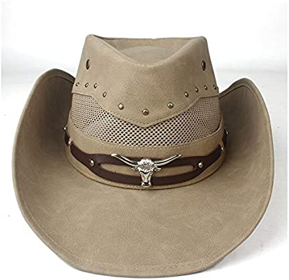 9691502eb Women's Elegant Popular Cowboy Hats 100% Leather Western Cowboy Hat ...