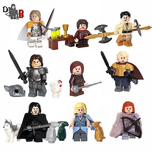 Custom Game of Thrones 9 pack - Made using LEGO & custom pieces.