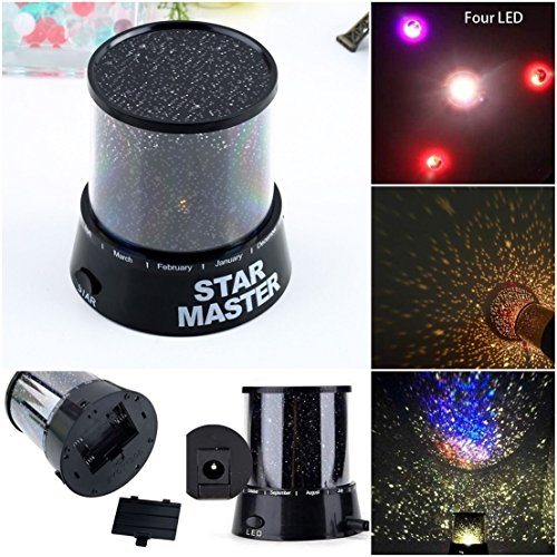 Sky Garden Recessed Light (1 Pcs Blameless Popular Nightlight Romatic Gift Star Sky LED Night Lamp Kids Color Black)