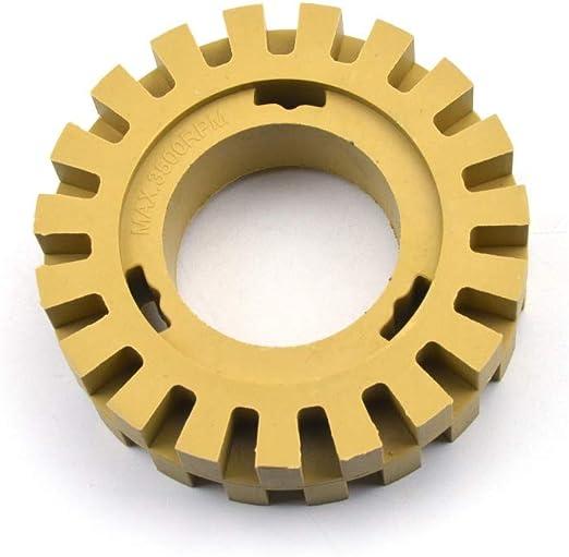 "4/"" inch Rubber Eraser Wheel Adhesive Sticker Pinstripe Decal Graphic Remover New"