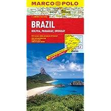 Brazil, Bolivia, Paraguay, Uruguay Marco Polo Map