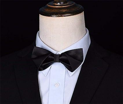 WUNDEPYTIE Corbata de moño Corbata Negra de Fibra de poliéster ...