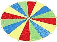 Sonyabecca 8ft 10ft 16ft 24ft Kids Play Parachute, Parachute for Kids, Parachute Game, Parachute with Handles,