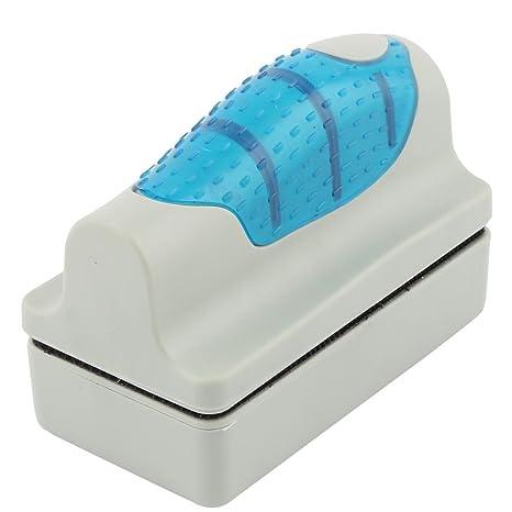Sourcingmap – Superficie de plástico magnético Acuario pecera de Cristal Algas Flotante Limpiador Cepillo