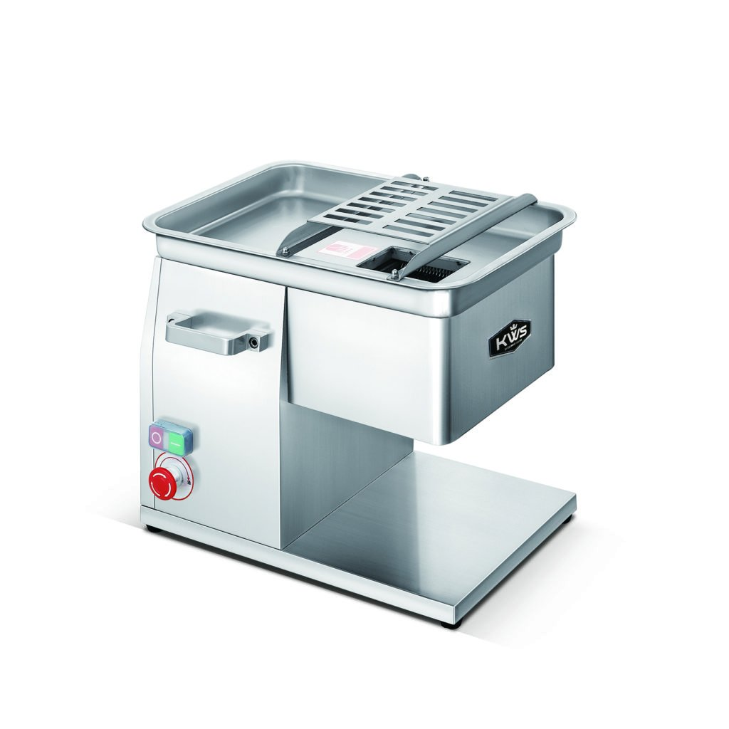 KWS SL-48 3mm Commercial 1320W 1.8HP Electric Stainless Steel Fresh Meat Cutter for Restaurant/Deli/ Butcher Shop