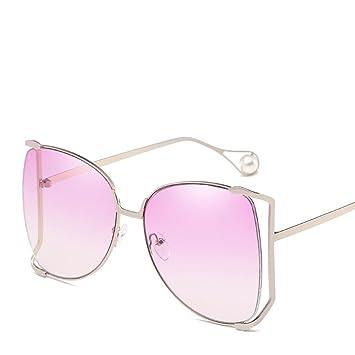 Aoligei Metall-Halbformat Sonnenbrille Dame große Kiste bunte Ozean Stück Sonnenbrille pearl Deko-Spiegel Bein Gläser fVwgYwx2