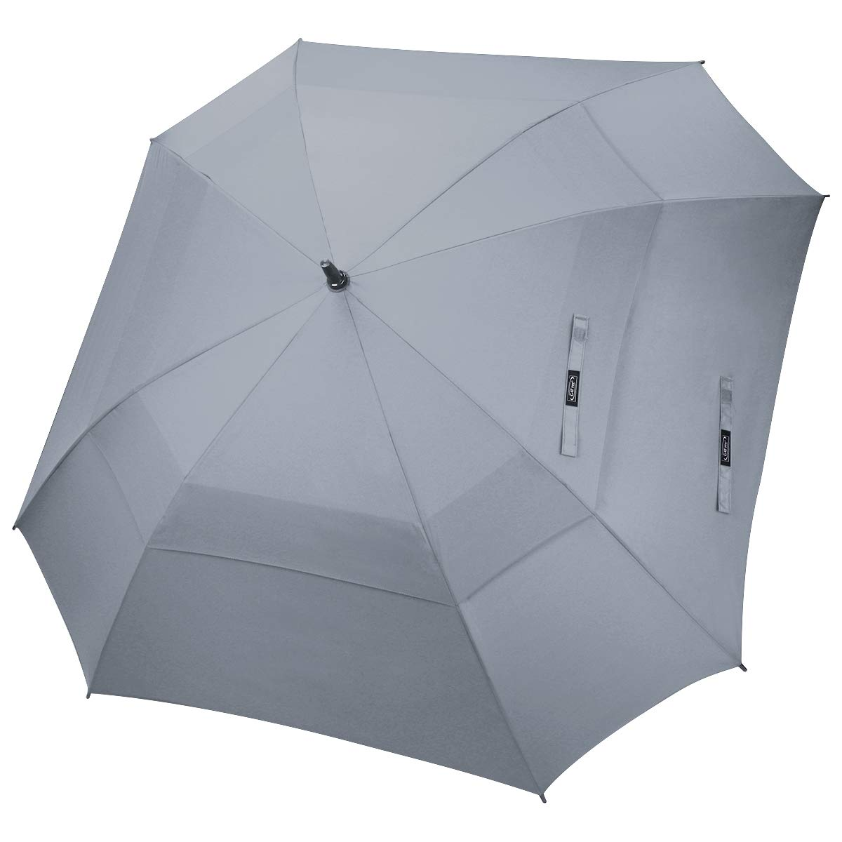 G4Free Extra Large Golf Umbrella Double Canopy Vented Square Umbrella Windproof Automatic Open 62 Inch Oversize Stick Umbrella for Men Women (Grey) by G4Free