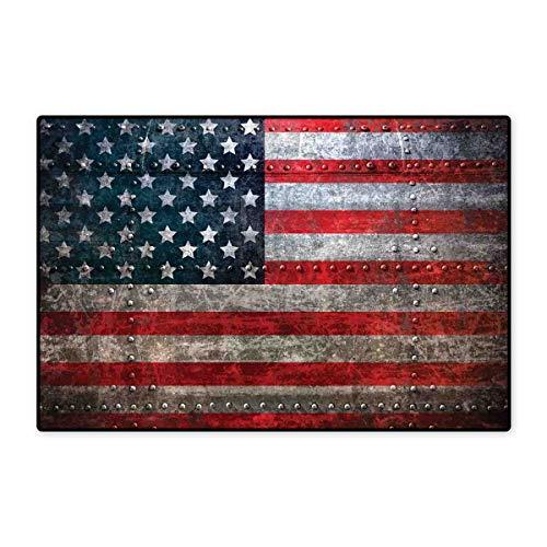 American Flag Bath Mat Non Slip Royalty Flag Textured US Backdrop on Damaged Board Plate Design Artwork Print Customize Door mats for Home Mat 24