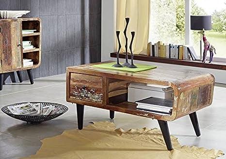 Legno antico mobili in legno massello vintage laccato tavolino da