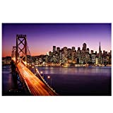 "Northlight LED Lighted Famous San Francisco Oakland Bay Bridge Canvas Wall Art 15.75"" x 23.5"""