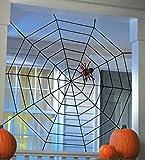 Black Spiderweb Halloween Large Big Spider Web-5Feet X 5 Feet by Tinuos