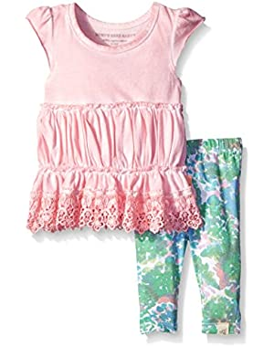 Girls' Sun Bleached Tunic and Floral Capri Legging Set