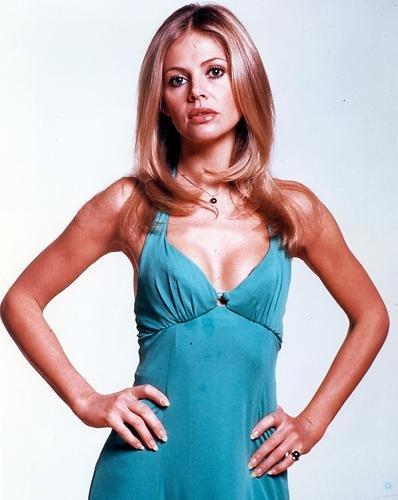 Britt Ekland 8x10 Promotional Photograph in blue dress The Man With The Golden Gun