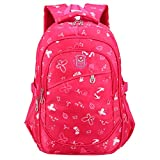 Yvechus School Backpack Casual Daypack Travel Outdoor Camouflage Backpack for Boys and Girls (Red Scalewing)