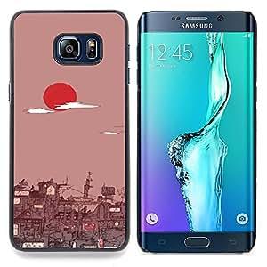 "Qstar Arte & diseño plástico duro Fundas Cover Cubre Hard Case Cover para Samsung Galaxy S6 Edge Plus / S6 Edge+ G928 (Tokio Amanecer"")"