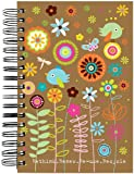 "ecojot Jumbo Journal, Flower Garden Re-Use, 6"" x 9"""