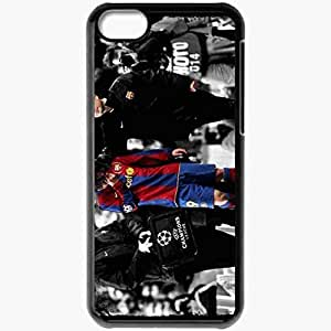 Personalized iPhone 5C Cell phone Case/Cover Skin Messi Crying 2 Lionel Messi FC Barcelona Football Black