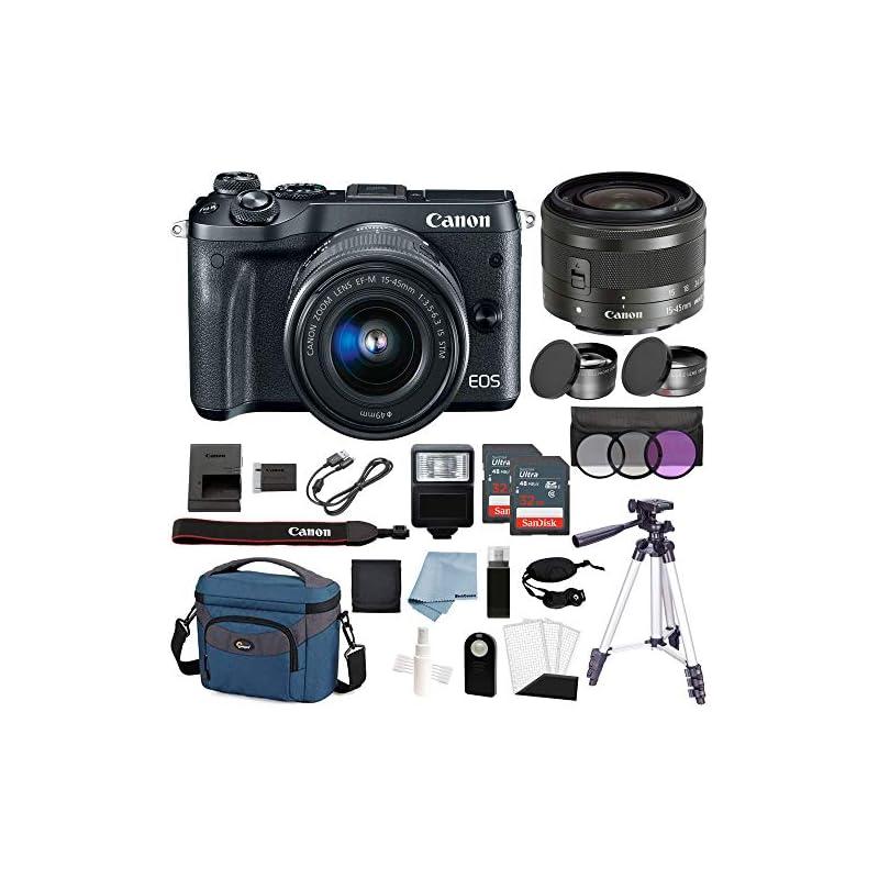 Canon EOS M6 Digital Camera (Black) with