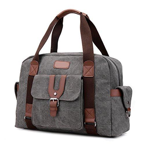 Frauen Jahrgang Leinwand Messenger Aktentasche Schulter Handtasche Seite Sport Tasche ,D-OneSize