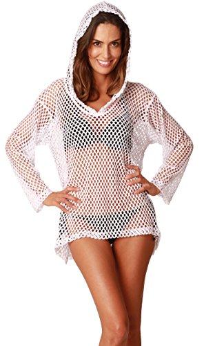 Women Summer Crochet Beachwear White - 5