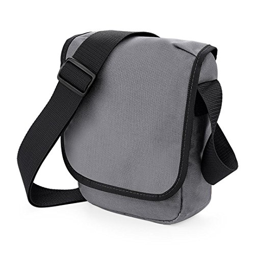 BagBase Mini Reporter Graphite Grey Black