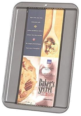 "Baker'S Secret Cookie Sheet Dw Safe, Small 13.15"" X 9.17"" X 0.56"" Non Stick Gray"