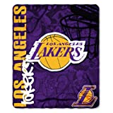 "NBA Los Angeles Lakers Hard Knocks Printed Fleece Throw, Purple, 50"" x 60"""